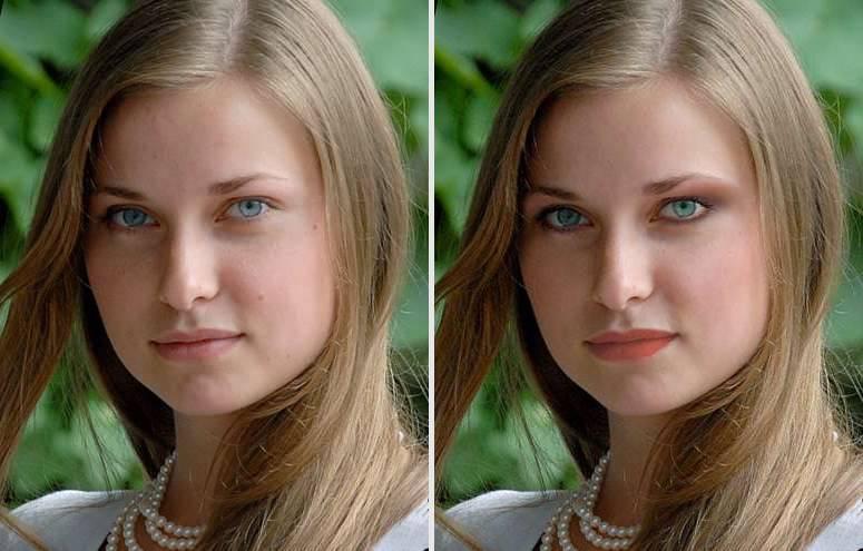 Программа виртуального макияжа - пример обработки фото
