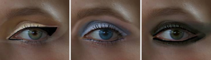 Eye shape and color changing makeup