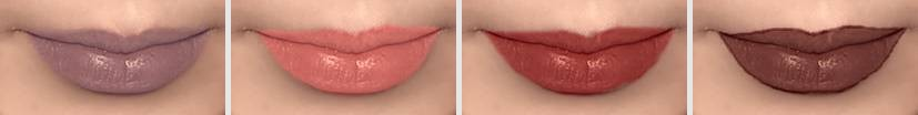 Virtual lip makeup - variants with various lipstick colors