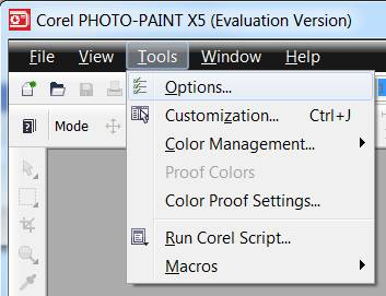 installing plugins corel photo paint step 1