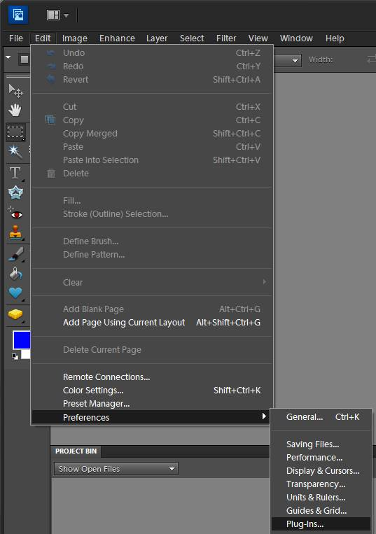 How to add our programs to the adobe photoshop elements program