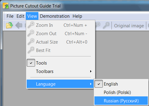 Change Interface Language