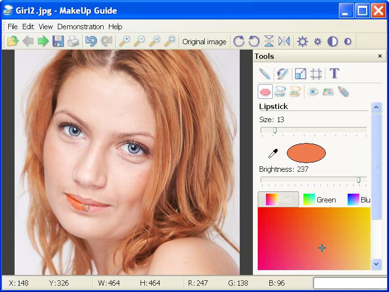 Makeup Guide - Add makeup directly on photos.